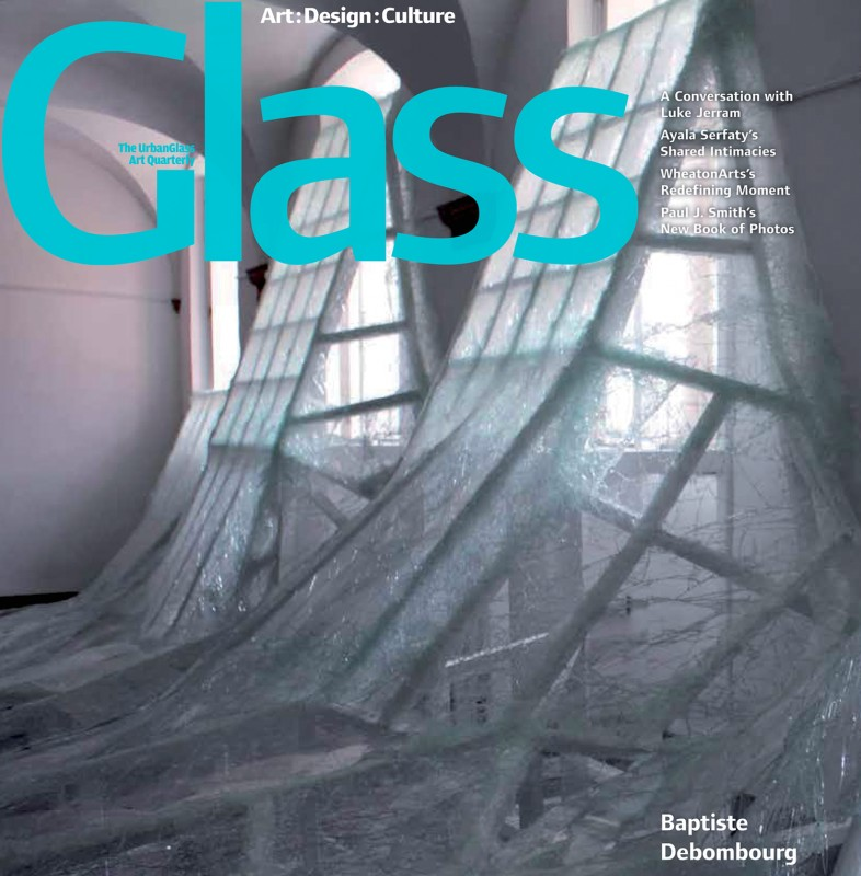 "N°140 - Hivers 2015, ""Rupture and Repair, the large-scale shattered-glass installations of Baptiste Debombourg give physical form to the violent undercurrents of our turbulent era"" by Editor Victoria Josslin"