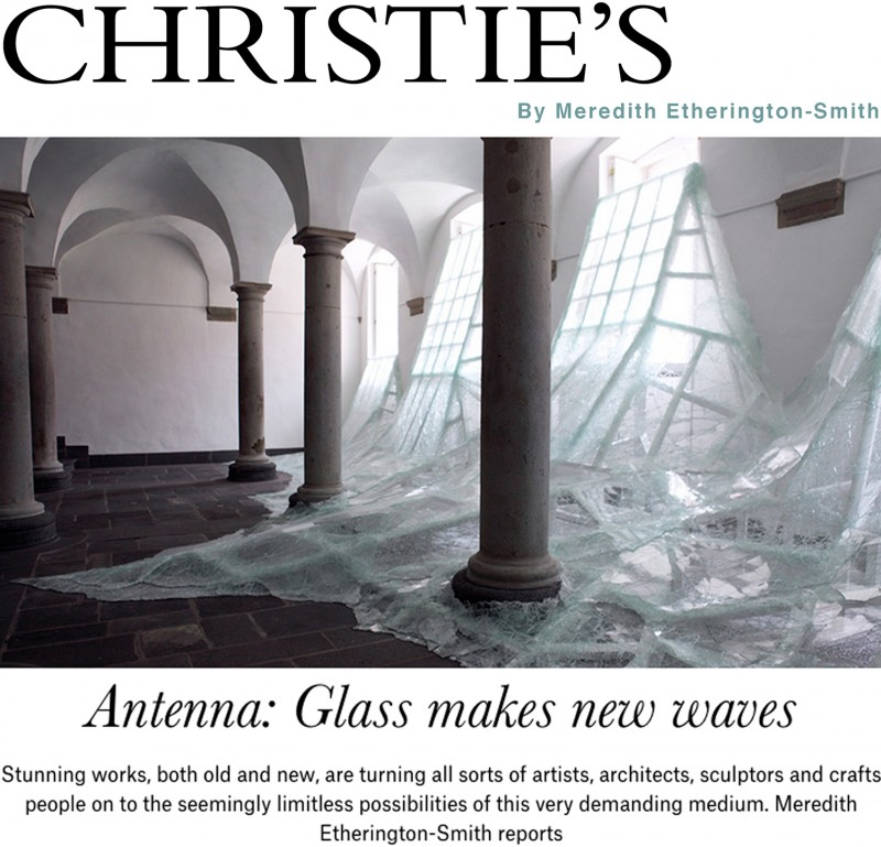 "Published the 17 March 2015, ""Antenna : Glass makes new waves"" by Meredith Etherington-Smith,  Christie's the Art People"